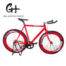 700c 70mm Wheelset Red Bullhorn Handlebar Aluminium Fixed Bicycle