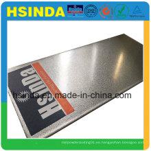 Revestimiento en polvo metálico gris metalizado Ral 9007 de mayor rendimiento