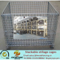Manufacturer movable workshop transport cages recycle metal wire storage cages volume 0.15-1.56m3 stackable stillage cages