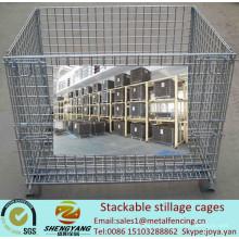 Производитель подвижная мастерская транспортные клетки корзины для хранения металлического провода клетки объем 0.15-1.56m3 штабелируемые каркасы барды