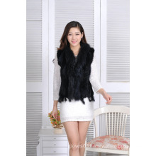 Autumn Sprinf Fashion Short Vest,Hot Sell Women Spring Fur Knitted Jacket