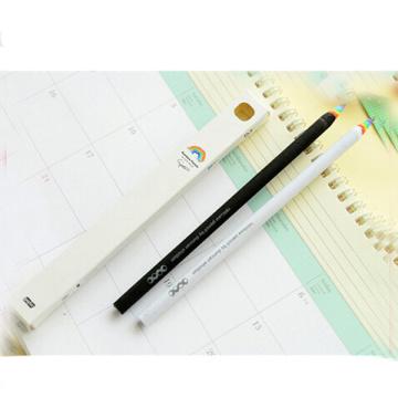 lápiz promocional del color del arco iris de madera
