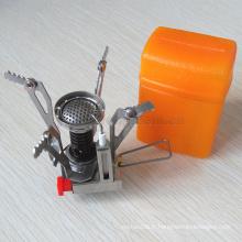 Vente chaude Portable Pique-Nique En Plein Air Cuisinière Gaz Butane Propane Brûleur Mini Camping En Acier Cuisinière