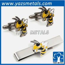 Yellow Jackets tie bars and cufflinks, custom metal craft with design