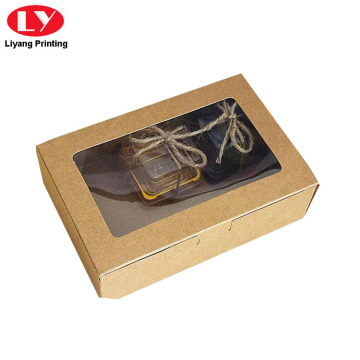 Kraft Paper Cookie Box dengan Window PVC