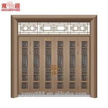 Puerta de acero de entrada de villa de diseño clásico de lujo de alta calidad