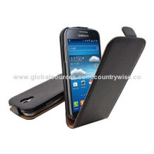 PU leather vertical Flip Leather Case Pouch Cover for Samsung Galaxy S V S5 I9500X