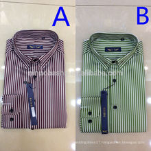 2014 Hot Sale Men's Matched Collar And Cuff Long Sleeve Blue Purple Stripes Business Shirts Men's Wedding Dress Shirts NB0587