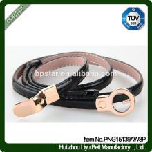 Female Fashion Skinny Metal Buckle Genuine Leather Belt For Wedding/Cintos Moda Mulher cintos de couro