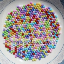 Warm 3mm Plastic Round Gemball Tiny beads