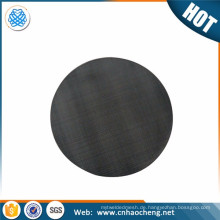 Replacement 12*64 mesh dutch weave black wire cloth filter discs for plastic extruder plastic recycle machine