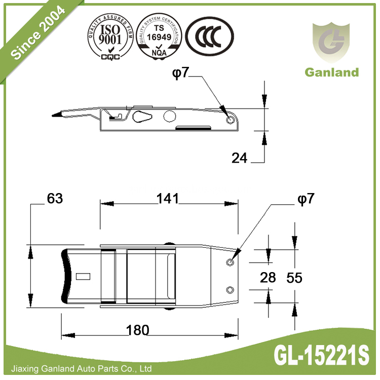 plastic locking mechanism GL-15221S-1