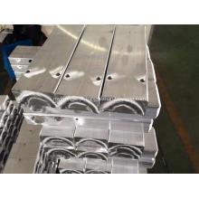 Tanque de alumínio extrudado com perfil em U para permutador de calor