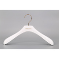 white wooden hanger with big shoulders