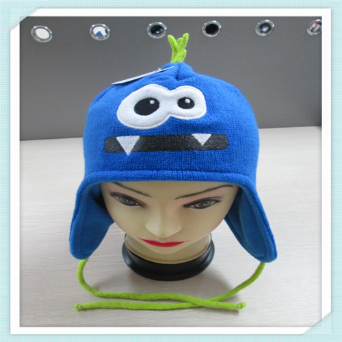 children cartoon pattern knitted hat