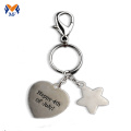 Professional Gift Metal Personalised Letter Tag Keychain