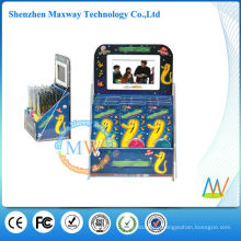 Acrylic Counter Top Display integrated 7 inch lcd screen