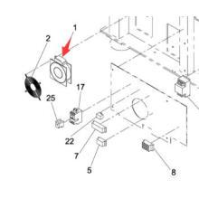 Panasonic SMT Fan für Sp60p-M Bildschirm Drucker Maschine (KXFP005AA00)