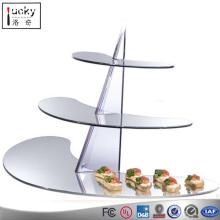 Acrylic Food Display stand,3 Tier Crystal Acrylic Round food Stand