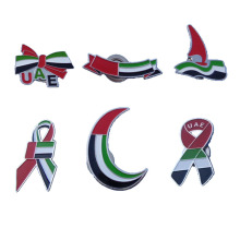 Bottom price for Safety Pin Dubai UAE Flag Enamel Metal Lapel Pins supply to Japan Exporter