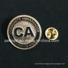 Emblema feito sob encomenda do Pin do esmalte do cloissone feito sob encomenda da lembrança