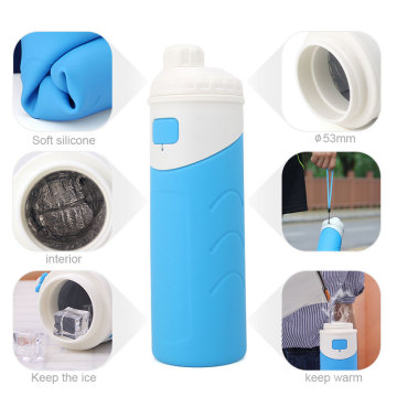 I-Wide Mouth Silicone Insulate Bottle Water