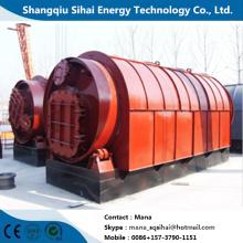 Raffinerie de plastique usée à la machine de pyrolyse de carbone noir