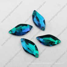 Top Selling Dekorative S Form Blau Zirkon Nähen auf Strass für Bekleidung