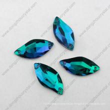 O zircão azul de venda superior da forma de S costura no cristal de rocha para o vestuário