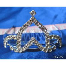 Corona del niño de la corona de la tiara del rhinestone de la manera y corona de las tiaras papel de dibujo hecho a mano