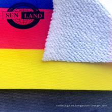 Sudadera deportiva 65 poliéster 35 algodón transferencia por sublimación papel impresión tela de rizo tela