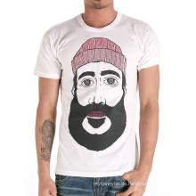 Männer Kopf Bildschirm gedruckt Mode heißer Großhandel benutzerdefinierte Baumwolle Sommer billig T-Shirt