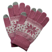 Lady Fashion Gestrickte Winter Warm Touch Screen Magic Handschuhe (YKY5457)