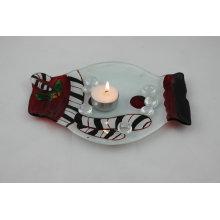 Plaque à bougies en verre pour le dîner (KLP120912-13B)