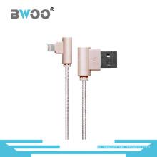 Cable de datos USB de relámpago de fibra de la nueva venta más nueva