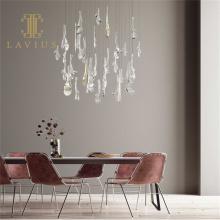 Индивидуальные украшения дома светодиодный хрустальный подвесной светильник