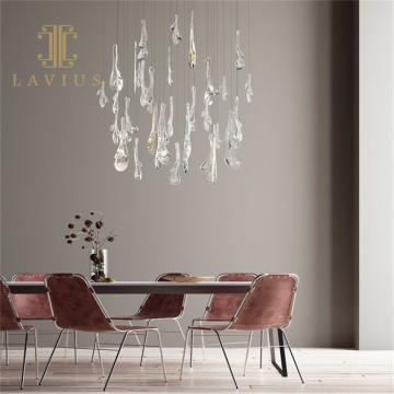 Lámpara colgante de cristal led de decoración casera personalizada