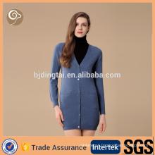 women's v neck 100% cashmere cardigan