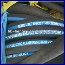 R12 Flame resistant hydraulic hose pipe
