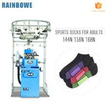 Nueva condición 6f calcetería de computadora automática que hace deportes llano calcetín máquina para hacer punto precio