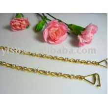 heart metal bra straps