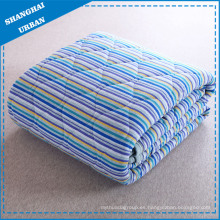 Manta de colcha de rayas de algodón Manta de edredones