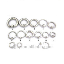 Double ball labret mamelon Ball Closure Rings