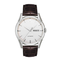 Quality Mens Leather Watch Ss Case Calf Leather Strap