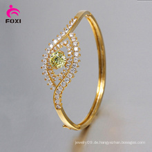 Modisches Gold überzogenes Kupfer-Armband für Braut
