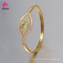 Brazalete de cobre plateado oro de moda para nupcial