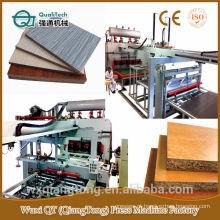 Máquina de pressão térmica para papel de melamina em MDF / HDF / PB