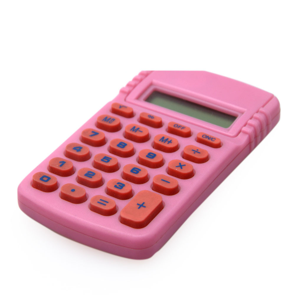 8 Digits Lovely Pink Mini Size Handheld Calculator