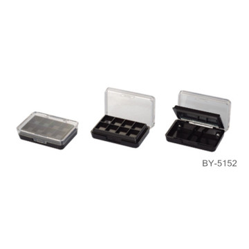 Double Deck Black Compact Powder Case