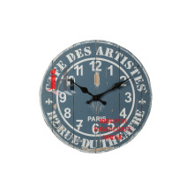 Old Grey Wooden Wall Clock